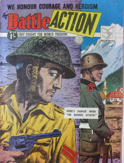 Cover for Battle Action (Horwitz, 1954 ? series) #29