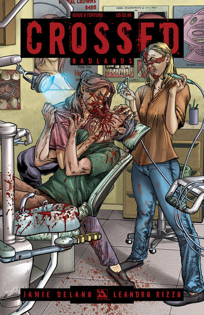 Cover for Crossed Badlands (Avatar Press, 2012 series) #8 [Torture Cover - Gianluca Pagliarani]