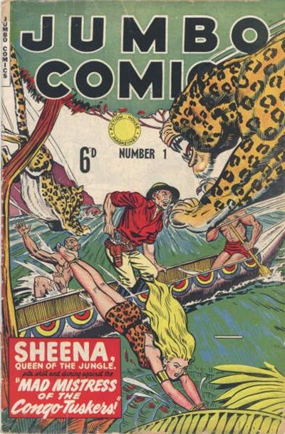 Cover for Jumbo Comics (H. John Edwards, 1950 ? series) #1