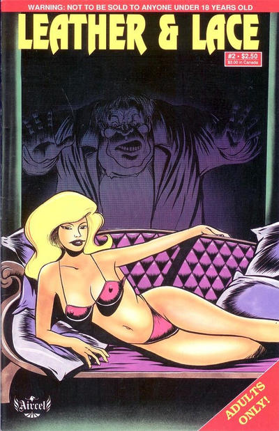 Cover for Leather & Lace (Malibu, 1989 series) #2 [Adults Only]