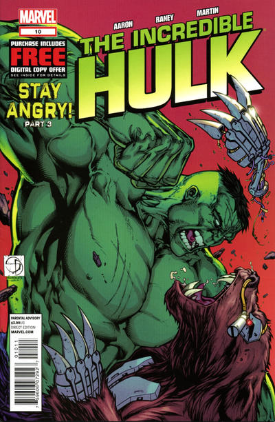 Cover for The Incredible Hulk (Marvel, 2011 series) #10