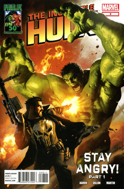 Cover for The Incredible Hulk (Marvel, 2011 series) #8 [Variant Edition 50 Years of Spider-Man]