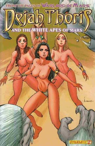 Cover for Dejah Thoris and the White Apes of Mars (Dynamite Entertainment, 2012 series) #2 [Cover B - Alé Garza Variant]