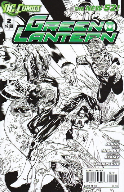 Cover for Green Lantern (DC, 2011 series) #2 [David Finch Variant Cover]