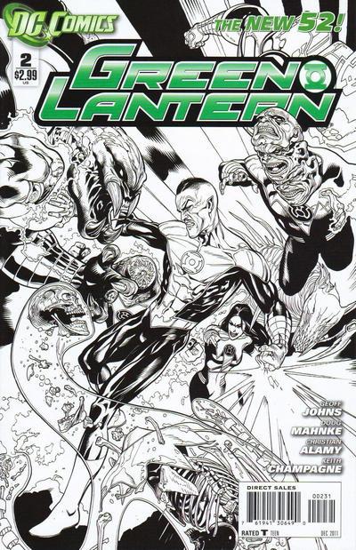 Cover for Green Lantern (DC, 2011 series) #2 [Doug Mahnke / Christian Alamy Black & White Cover]