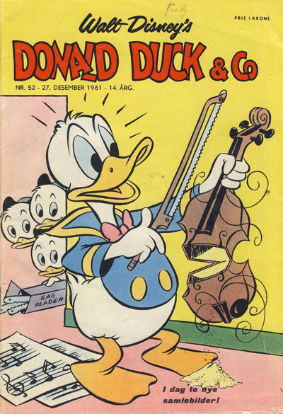 Cover for Donald Duck & Co (Hjemmet / Egmont, 1948 series) #52/1961