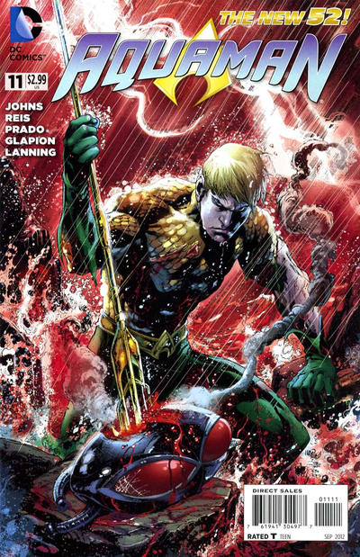 Cover for Aquaman (DC, 2011 series) #11