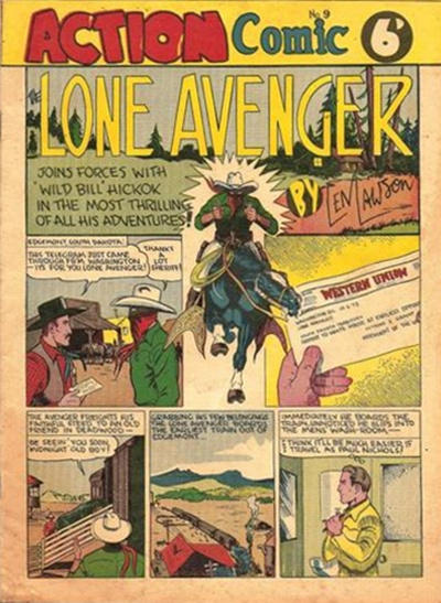 Cover for Action Comic (Peter Huston, 1946 series) #9