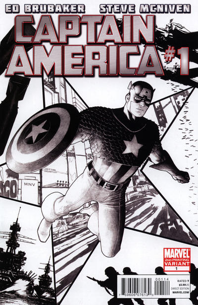 Cover for Captain America (Marvel, 2011 series) #1 [Olivier Coipel Variant]