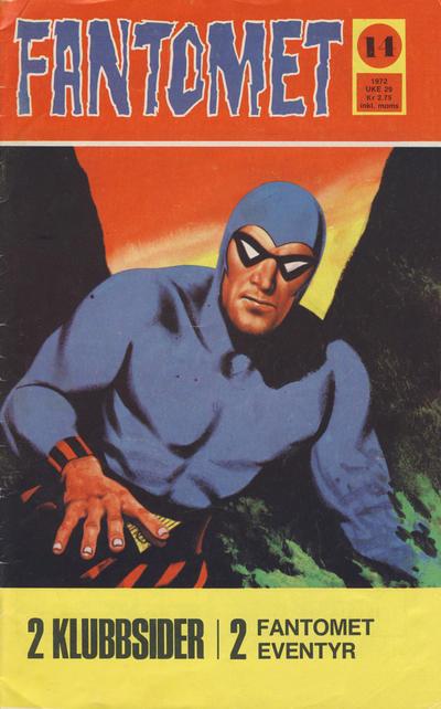 Cover for Fantomet (Romanforlaget, 1966 series) #14/1972