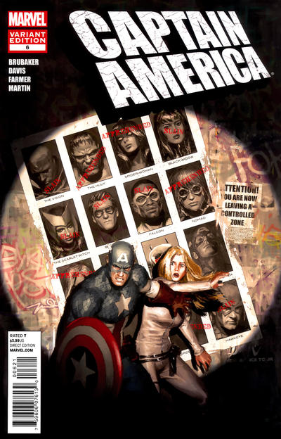 Cover for Captain America (Marvel, 2011 series) #6 [newsstand]