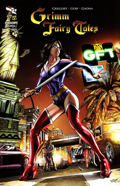 Cover for Grimm Fairy Tales (Zenescope Entertainment, 2005 series) #75 [Cover A - J. Scott Campbell]
