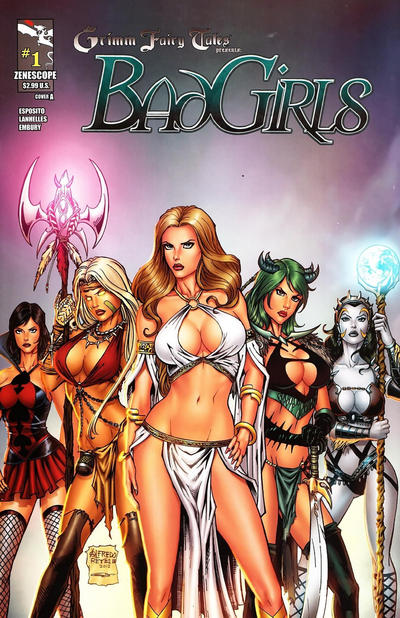 Cover for Grimm Fairy Tales Presents Bad Girls (Zenescope Entertainment, 2012 series) #1 [Cover A Alfredo Reyes]