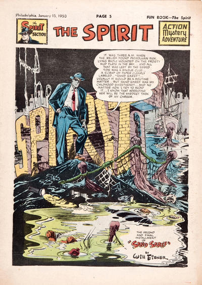 Cover for The Spirit (Register and Tribune Syndicate, 1940 series) #1/15/1950