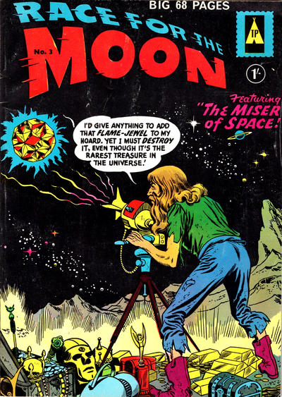 Cover for Race for the Moon (Thorpe & Porter, 1959 series) #3