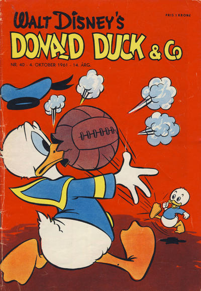 Cover for Donald Duck & Co (Hjemmet / Egmont, 1948 series) #40/1961