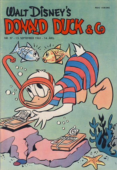 Cover for Donald Duck & Co (Hjemmet / Egmont, 1948 series) #37/1961
