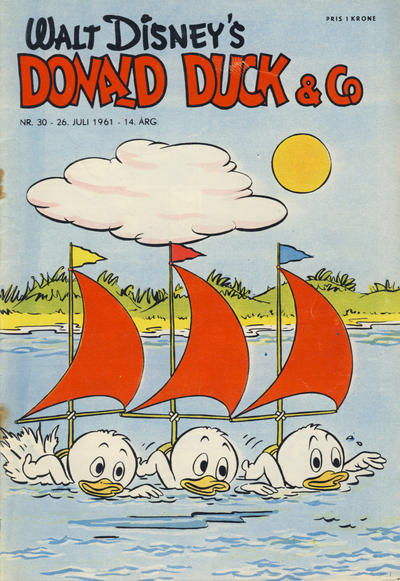 Cover for Donald Duck & Co (Hjemmet / Egmont, 1948 series) #30/1961