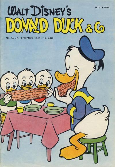 Cover for Donald Duck & Co (Hjemmet / Egmont, 1948 series) #36/1961