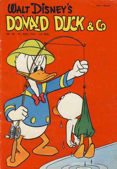 Cover for Donald Duck & Co (Hjemmet / Egmont, 1948 series) #25/1961