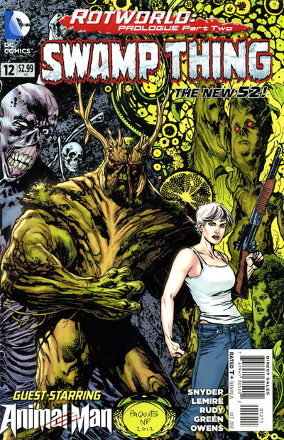 Cover for Swamp Thing (DC, 2011 series) #12