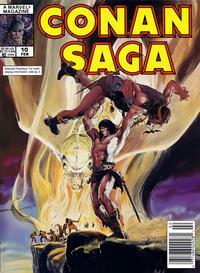 Cover Thumbnail for Conan Saga (Marvel, 1987 series) #10 [Newsstand]