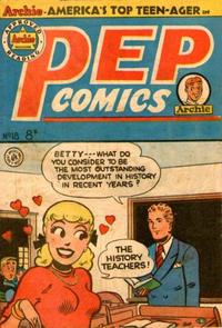Cover Thumbnail for Pep Comics (H. John Edwards, 1951 series) #18