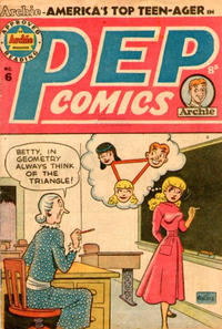Cover Thumbnail for Pep Comics (H. John Edwards, 1951 series) #6