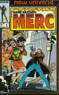 Cover Thumbnail for Mark Hazzard: Merc (Marvel, 1986 series) #4 [Direct Edition]