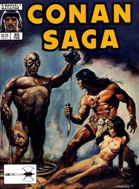 Cover Thumbnail for Conan Saga (Marvel, 1987 series) #35 [Direct]