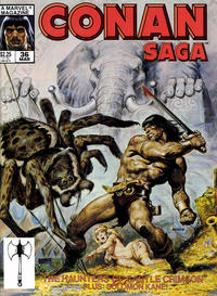Cover Thumbnail for Conan Saga (Marvel, 1987 series) #36 [Direct]