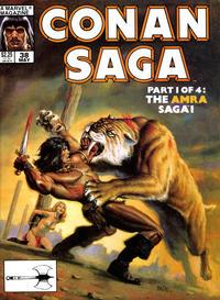 Cover Thumbnail for Conan Saga (Marvel, 1987 series) #38 [Direct]