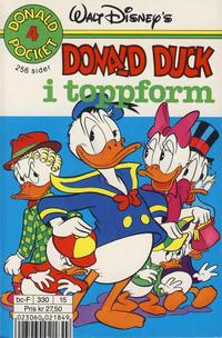 Cover Thumbnail for Donald Pocket (Hjemmet / Egmont, 1968 series) #4 - Donald Duck i toppform [4. opplag Reutsendelse 330 15]