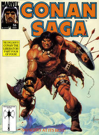 Cover Thumbnail for Conan Saga (Marvel, 1987 series) #56 [Direct]