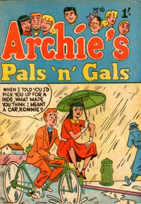 Cover Thumbnail for Archie's Pals 'n' Gals (H. John Edwards, 1950 ? series) #16