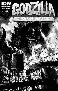 Cover Thumbnail for Godzilla: The Half-Century War (IDW, 2012 series) #1 [Cover RI Frank Teran]