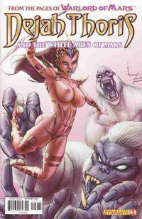 Cover for Dejah Thoris and the White Apes of Mars (Dynamite Entertainment, 2012 series) #3 [Dynamic Forces Brandon Peterson risqué red art variant]