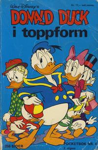 Cover Thumbnail for Donald Pocket (Hjemmet / Egmont, 1968 series) #4 - Donald Duck i toppform [2. opplag]
