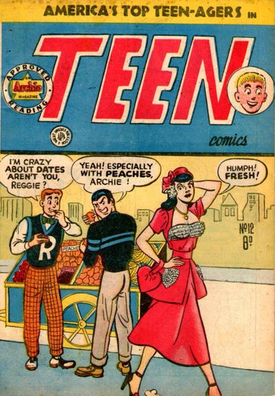 Cover for Teen Comics (H. John Edwards, 1950 ? series) #12