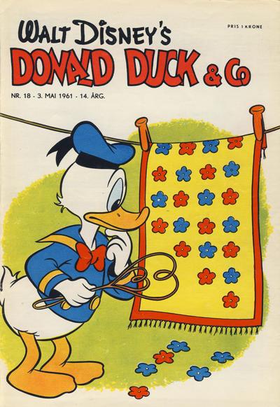 Cover for Donald Duck & Co (Hjemmet / Egmont, 1948 series) #18/1961