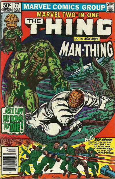 Cover for Marvel Two-in-One (Marvel, 1974 series) #77 [Direct]