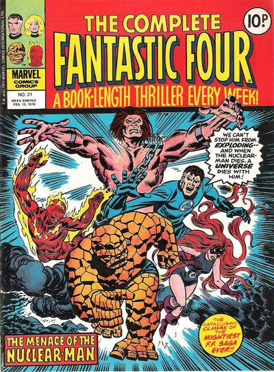 Cover for The Complete Fantastic Four (Marvel UK, 1977 series) #21