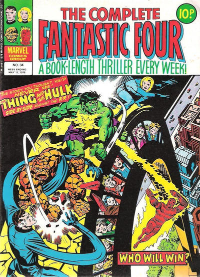 Cover for The Complete Fantastic Four (Marvel UK, 1977 series) #34