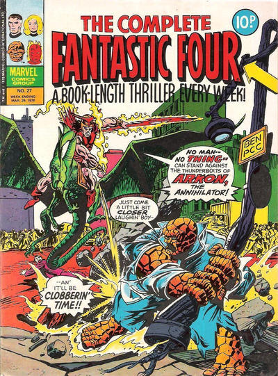 Cover for The Complete Fantastic Four (Marvel UK, 1977 series) #27