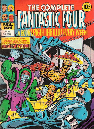 Cover for The Complete Fantastic Four (Marvel UK, 1977 series) #26