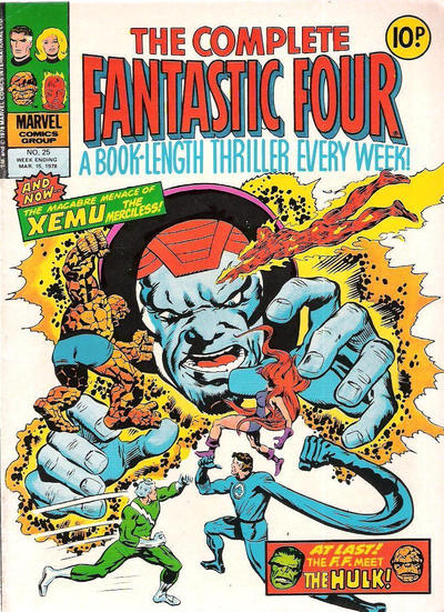 Cover for The Complete Fantastic Four (Marvel UK, 1977 series) #25