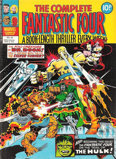 Cover for The Complete Fantastic Four (Marvel UK, 1977 series) #24
