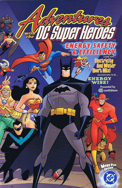 Cover for Adventures with the DC Super-Heroes: Energy Safety & Efficiency (DC, 2002 series)