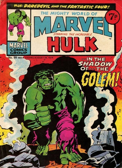 Cover for The Mighty World of Marvel (Marvel UK, 1972 series) #99