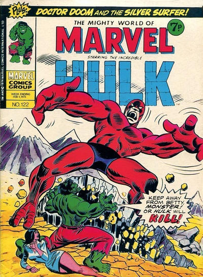 Cover for The Mighty World of Marvel (Marvel UK, 1972 series) #122